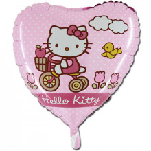 Сердце ''Hello kitty на велосипеде''