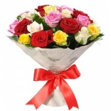 21 разноцветная роза